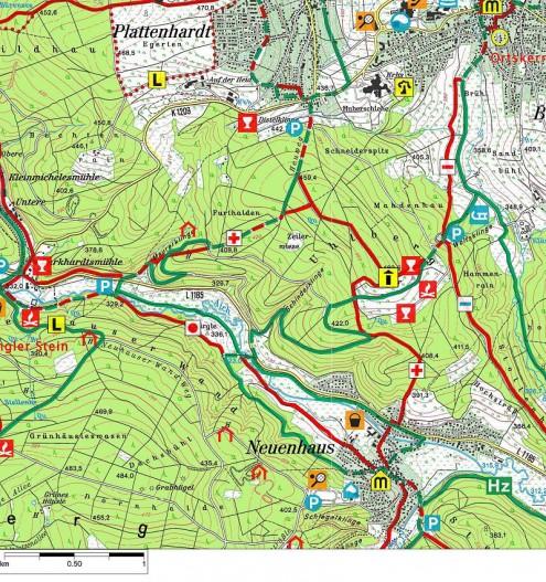 Karte-Uhlbergturm