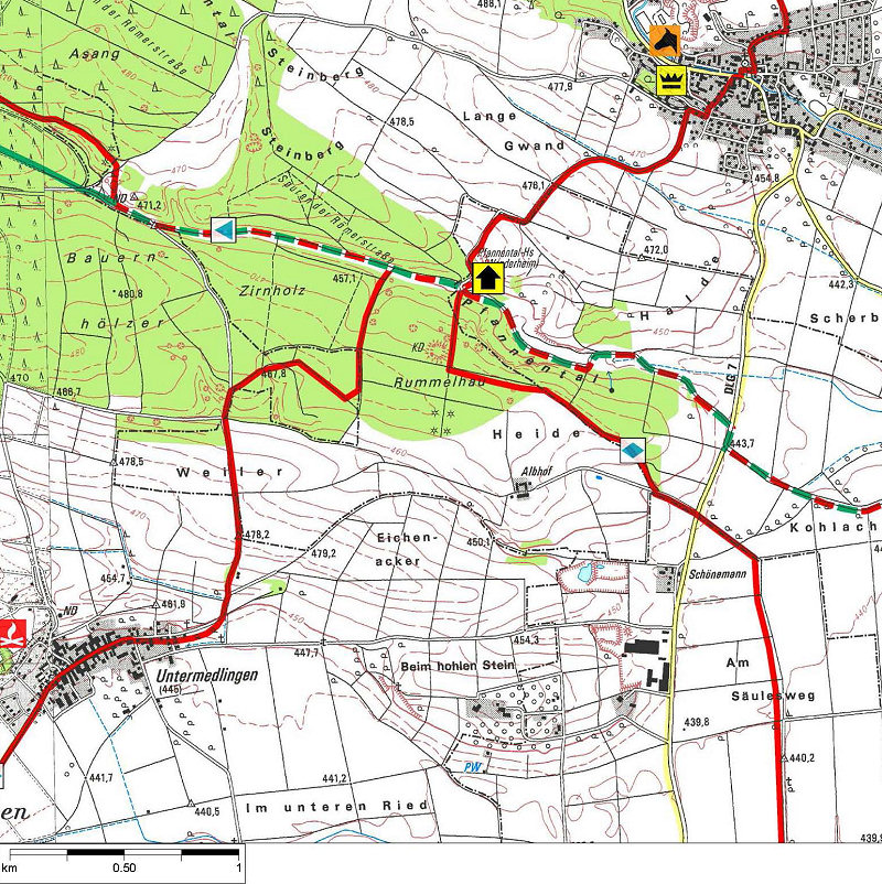 Schwäbische Alb Karte Städte.Wanderheim Pfannentalhaus Schwäbischer Albverein Türme Wanderheime