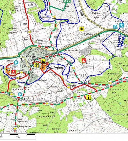 Karte-Waldgreutturm