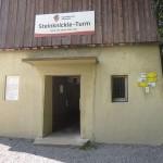 16.07.26_017# Wüstenrot-Neuhütten, Beschilderung Steinknickle-Turm